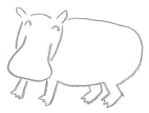 ミヤタチカのお絵描き動物園-第8回カバDrawing07