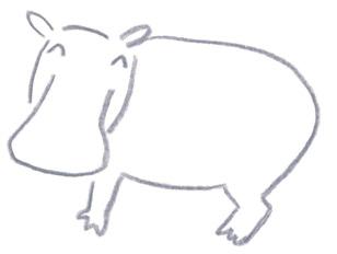 ミヤタチカのお絵描き動物園-第8回カバDrawing06