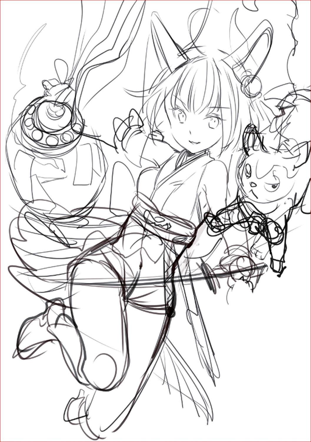 藤ちょこ ー 美しい幻想世界とキャラクターを描く02-02