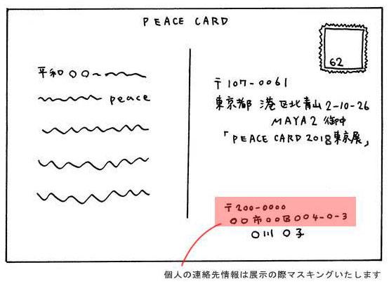 peace cardの作り方