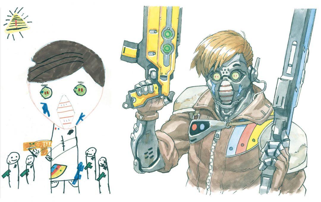 ロマン・トマさんと二人の息子によって生み出されたイラストレーションがすごい〜ディテールを膨らませてキャラクターを再解釈する〜