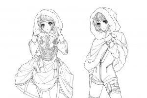 「童話アレンジ・赤ずきん」物語とキャラクターのコンセプトを衣装に落とし込む