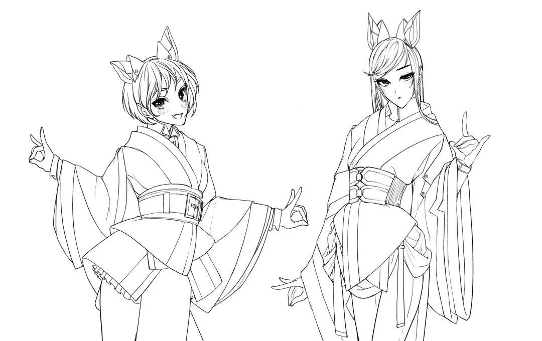 定番アイドル衣装の描き方 和服ならではの表現が使える和装ベースのアレンジ衣装