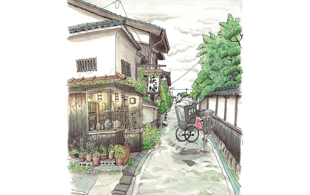 ほのぼのとしたイラスト「ご一新」を生んだ横丁─ 山口・萩「菊屋横丁」