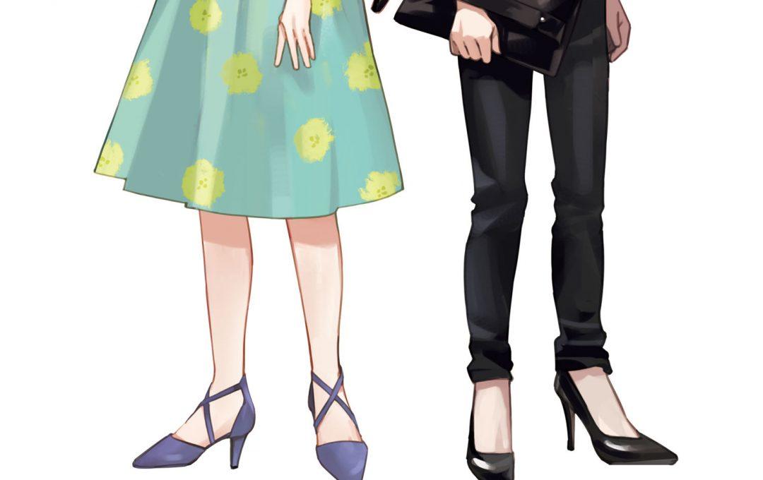 キャラクターのファッションを考えるアイデア出し 足元で演出する女性キャラの魅力