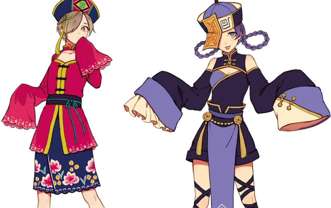 イラストファンタジー民族衣装中国妖怪キョンシーベースの