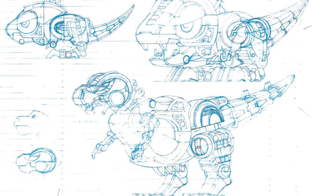メカデザイナー・やまだたかひろ氏が描く変形ロボの設計図。洗練させるコツは「アイデアの熟成」