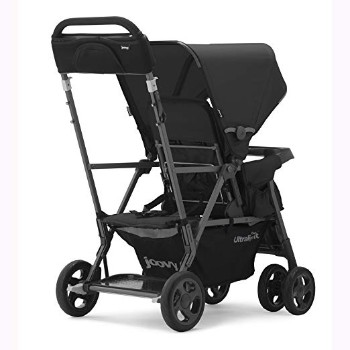 JOOVY-Caboose-Too-Ultralight-Graphite-Stand-On-Tandem-Stroller-Black