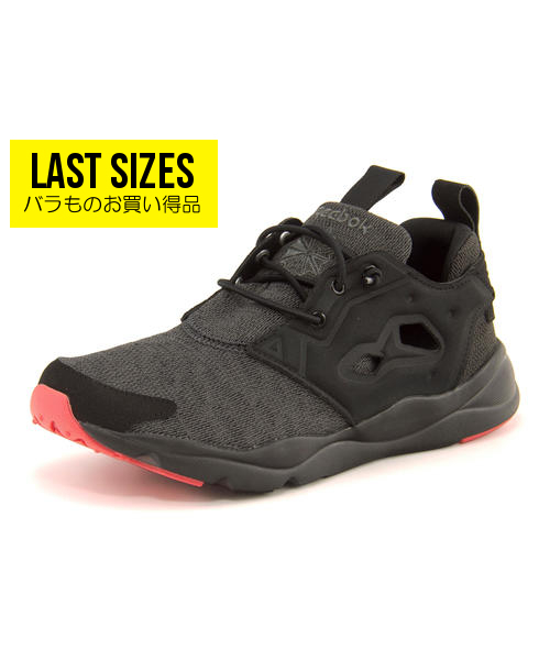 レディース SALE!Reebok(リーボック) FURYLITE SOLE(フューリーライトソール) BD4624 ブラック/ブラック/グラベル/ファイアーコーラル【ネット通販特別価格】 スニーカー ローカット