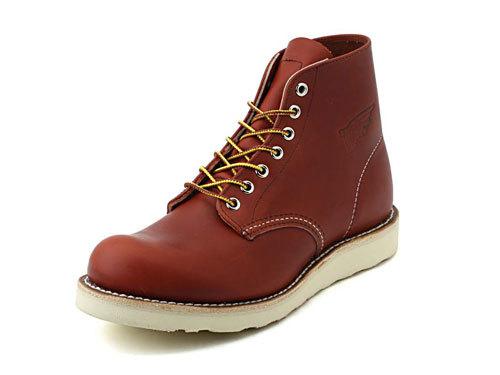 メンズ RED WING (レッドウィング) CLASSIC WORK ROUND TOE(クラシックワーク ラウンド トゥー) 8166 レッドブラウン ブーツ