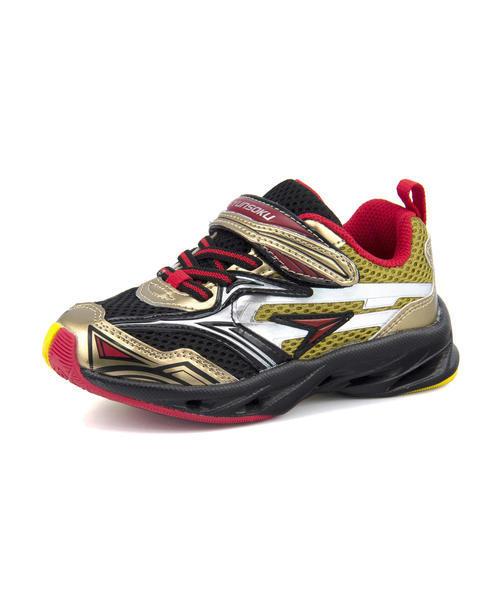 瞬足(シュンソク) 爆釣バーハンター キッズ スニーカー JC-547 ゴールド運動靴 ボーイズ