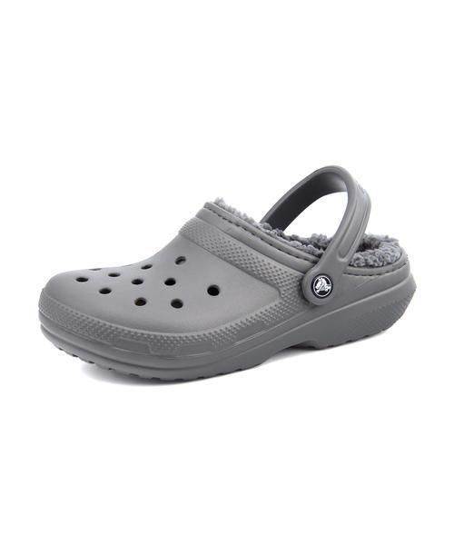 レディース SALE!crocs(クロックス) CLASSIC LINED CLOG(クラシックラインドクロッグ) 203591 0EX スレートグレー/スモーク サンダル クロッグ/サボ