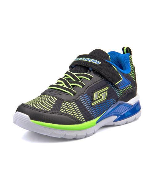 SKECHERS S Lights Erupters II Kids Sneakers Black+Blue Toddler Shoes 90553 NEW