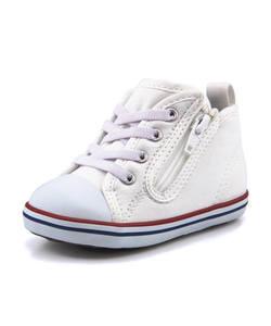 <G-FOOT> キッズ converse コンバース BABY ALL STAR N HUGEPATCH Z ベビースニーカー(ベビーオールスターNヒュージパッチZ) 7CL383 ホワイト ファースト/ベビー