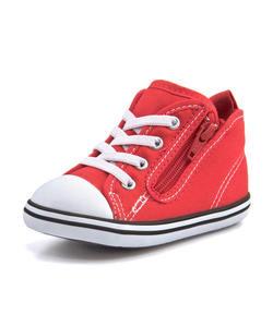 <G-FOOT> キッズ converse コンバース BABY ALL STAR N HUGEPATCH Z ベビースニーカー(ベビーオールスターNヒュージパッチZ) 7CL384 レッド ファースト/ベビー