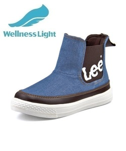 <G-FOOT> Lee リー ADAK LIGHT キッズブーツスニーカー【軽量】(アダックライト) 000819 ライトブルー ボーイズ