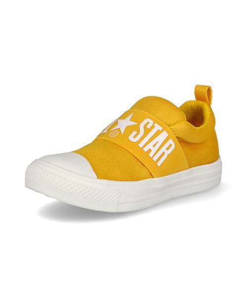 converse コンバース CHILD ALL STAR LIGHT BIGGORE SLIP-ON キッズスニーカー【超軽量】(チャイルドオールスターライトビッグゴアスリップオン) 37300461 イエロー ボーイズ