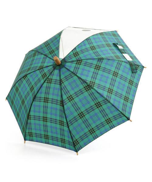Ampersand アンパサンド キッズ シンプル傘【透明窓付き】 L162010 チェック その他/ 雑貨など 傘・レインコート