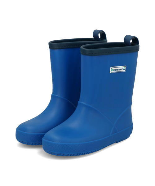Ampersand アンパサンド キッズ シンプルレインシューズ L164010 ブルー ブーツ ボーイズ