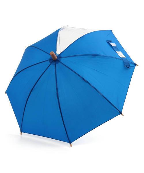 Ampersand アンパサンド キッズ シンプル傘【透明窓付き】 L162010 ブルー その他/ 雑貨など 傘・レインコート