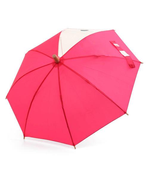 Ampersand アンパサンド キッズ シンプル傘【透明窓付き】 L162010 ピンク その他/ 雑貨など 傘・レインコート