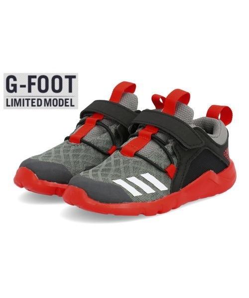 キッズ adidas アディダス RAPIDAFLEX 2 EL I ベビーシューズ(ラピダフレックス2ELI) CQ0097 グレーフォー/フットウェアホワイト/コアブラック スニーカー ファースト/ベビー