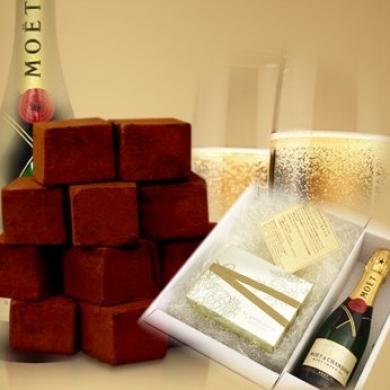 生チョコ12個入&シャンパン ギフトセット