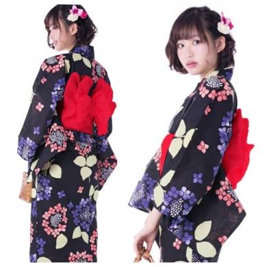 ◆紫陽花柄の浴衣