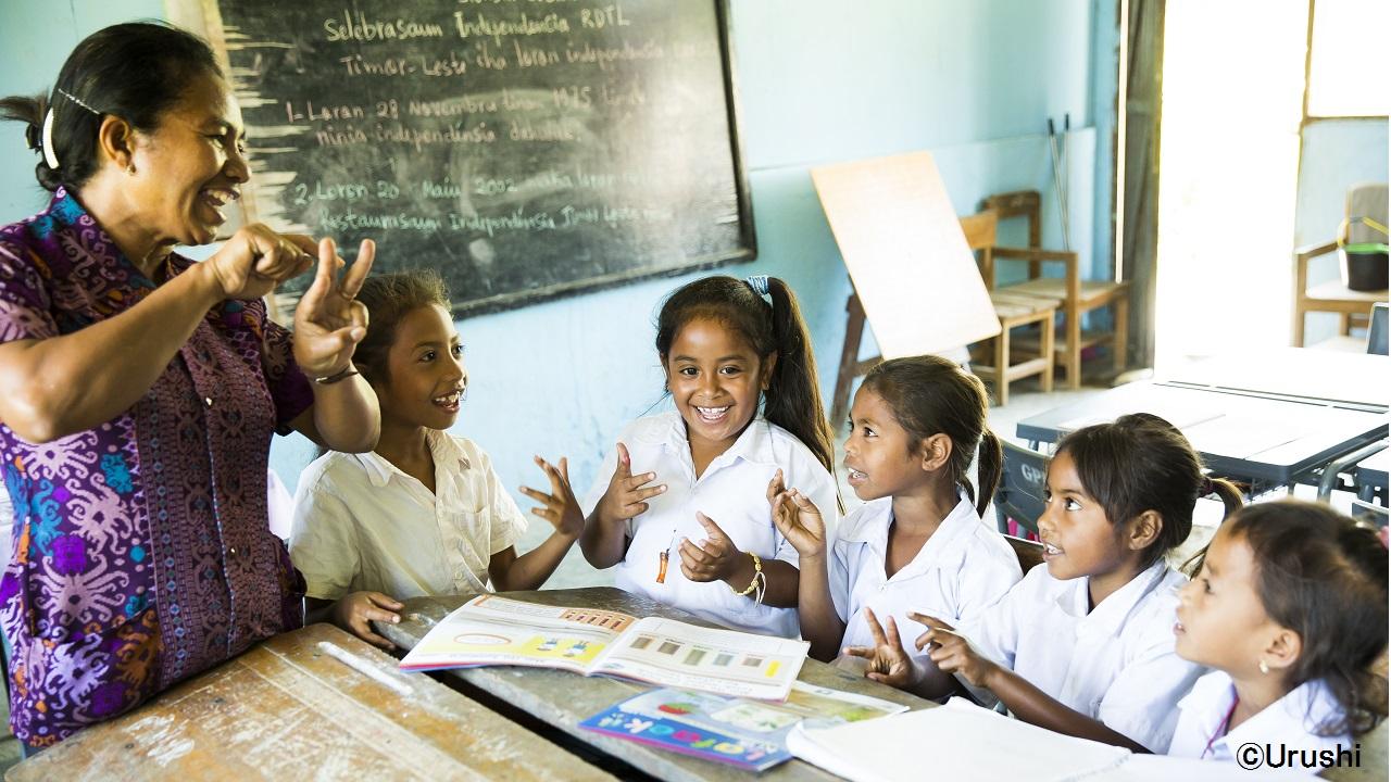 視覚的にわかりやすいラファエックでの授業で子どもたちも笑顔