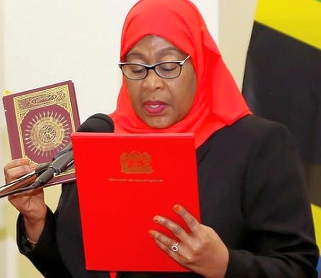 第6代タンザニア大統領に就任したサミア・スルフ・ハッサン前副大統領