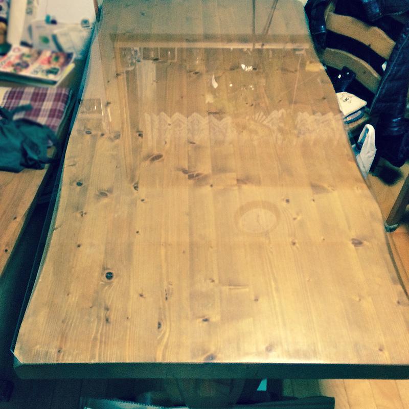 H 様 テーブルの天板ガラス
