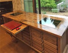 ハンドメイド家具・雑貨専門店M W様<br>ディスプレイキャビネットの天板