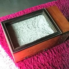 S様 火鉢テーブルのガラス