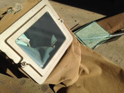 A社 K様 ショットブラスト作業用の面ガラス