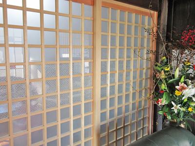 U様 木製引き戸のガラス