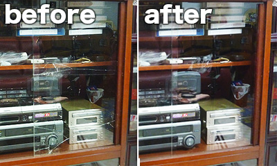 K様 オーディオラックと書棚の扉