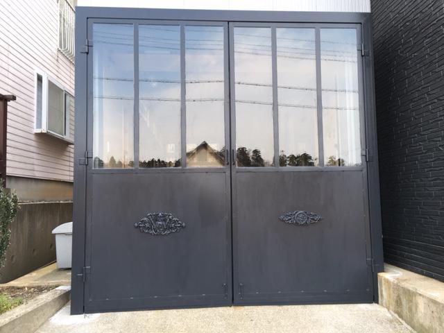 K.H様 ガレージドアのガラス