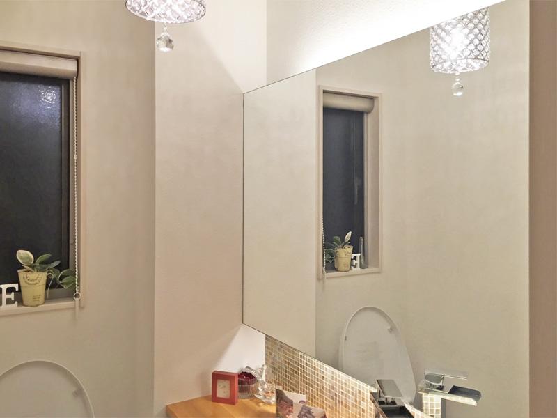I様 トイレの大型鏡