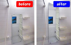 I様 浴室内の鏡