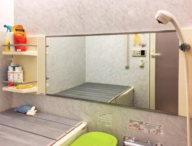 Y様 浴室鏡の交換