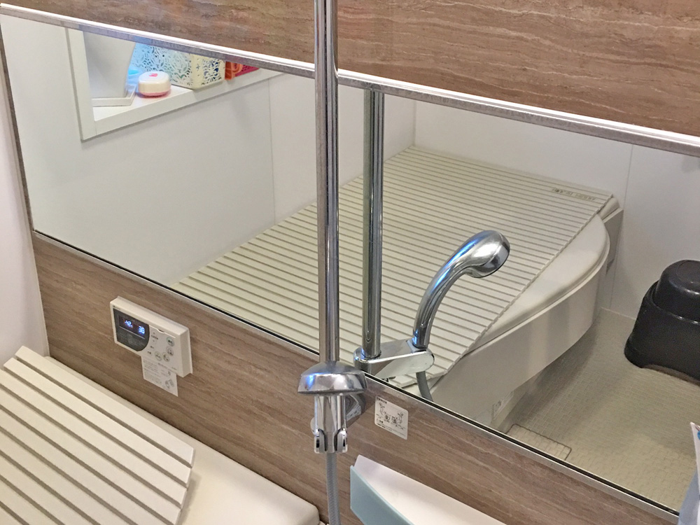 ?様 浴室の防湿ミラーの交換