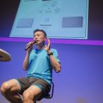 最後は中野さんのトークショー。体組成計の精度の高さに感心していました