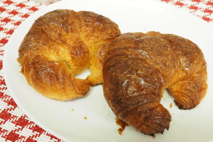 チーズトーストと並んでハマると断言できるクロワッサンモード。焼きたてのような食感とバターの香りがもうたまらない。