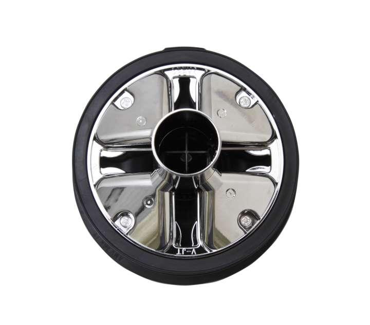 「8気筒遠心分離ユニット」にメッキ処理を施すことで、静電気によるゴミの付着を防いだ