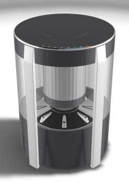 スケルトン掃除機AQUA「Clear」のプロトタイプ