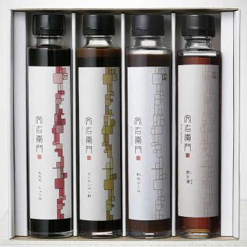 「丸大豆しょうゆ」「だいだいポン酢」「和のソース」「煎り酒」のセット3600円