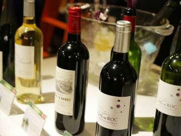 厳選されたワインが提供され、来場者の多くがワインを堪能していた。
