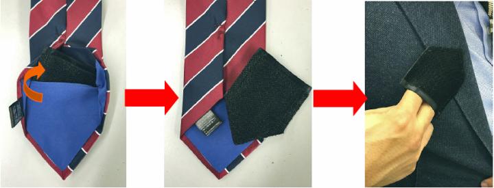 ホコリ取り付きネクタイ