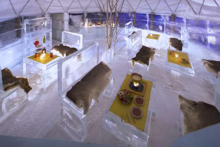 氷のレストラン
