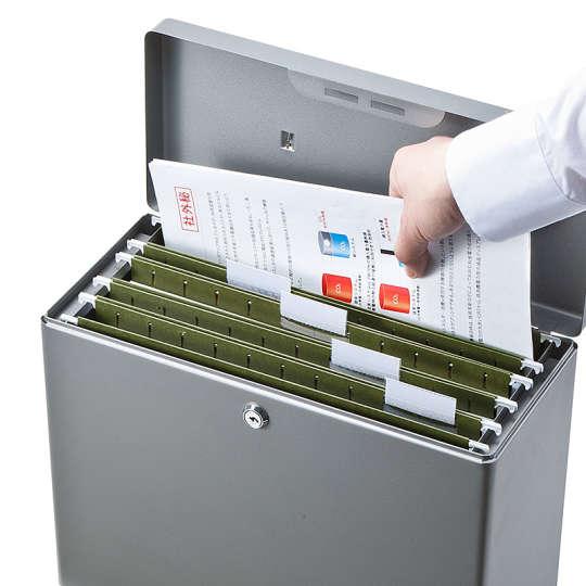 スチール製ファイルボックス「200-SL032GY」